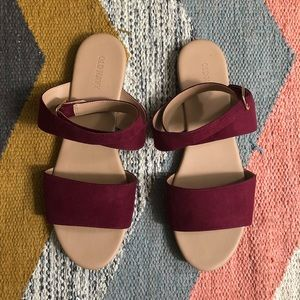 Old Navy ankle wrap sandals